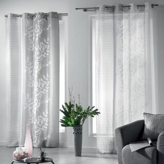 Evideco Printed Window Curtain Panel Design Folea Grommet