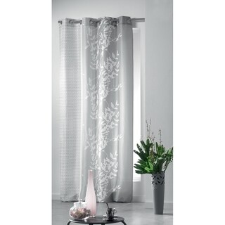 Evideco Printed Window Curtain Panel Design Folea Grommet