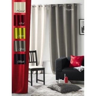Evideco Jacquard Grommets Window Curtain Panel Magnetic