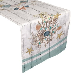 Laural Home Christmas by the Sea Table Runner