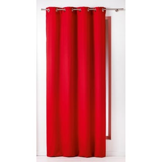 Evideco Panama Solid Cotton Grommet Window Curtain Panel (5 options available)