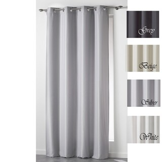 Evideco Double Layered Insulated Polar-Lined Window Curtain Panel Island