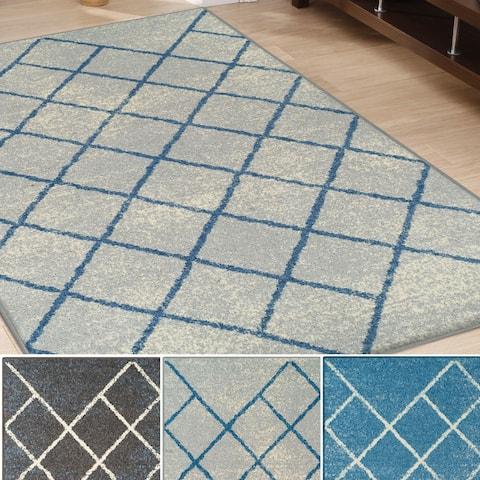 Superior Designer Lattice Area Rug (5' X 8')