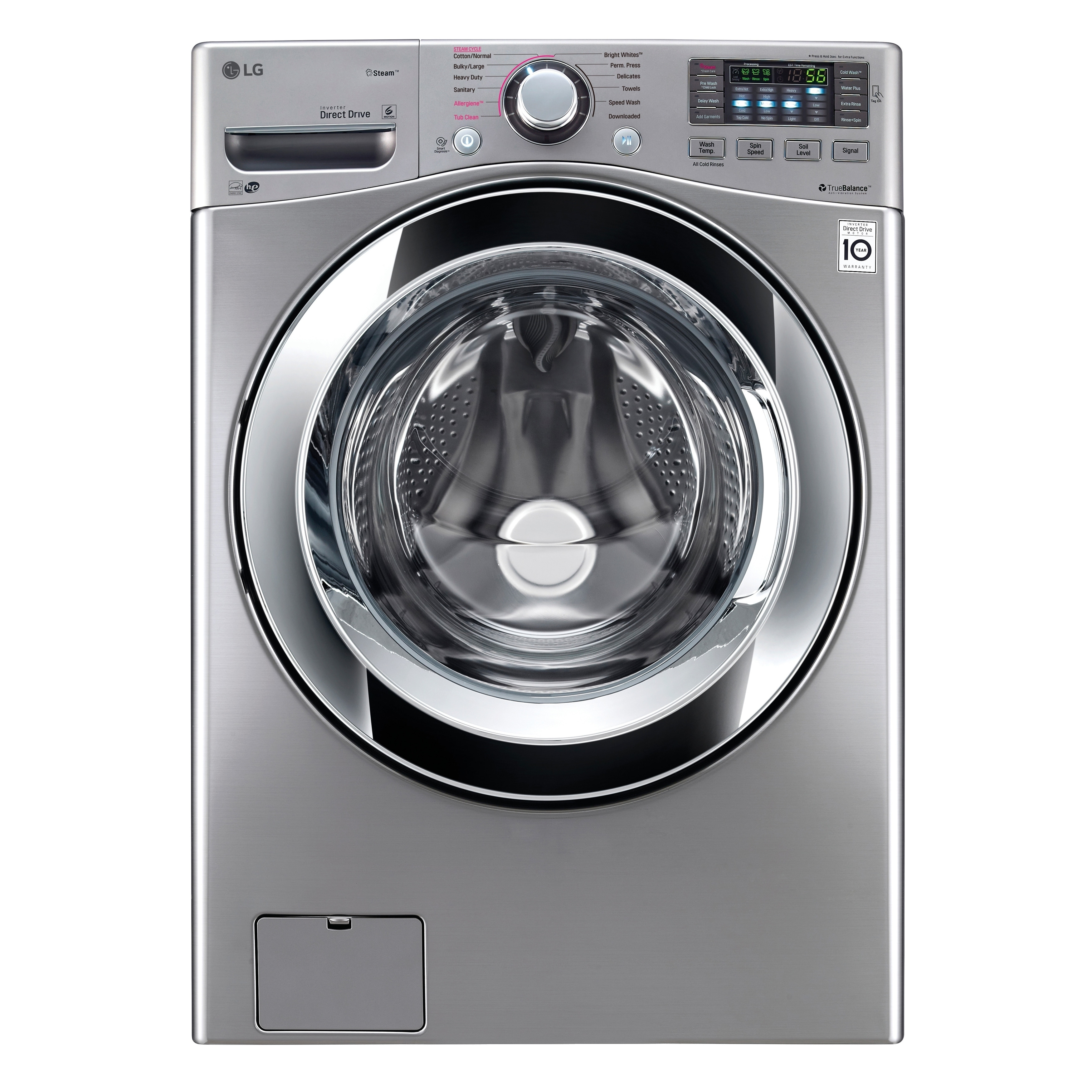 LG WM3670HVA 4.5 cu. ft. Ultra Large Capacity with Steam ...