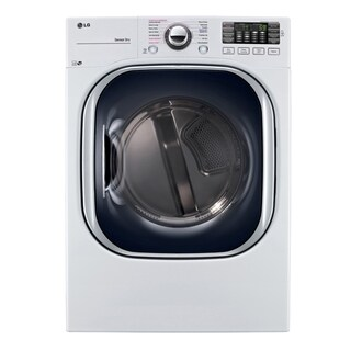 LG DLEX4370W 7.4 cu. ft. Ultra Large Capacity TurboSteam Electric Dryer in White