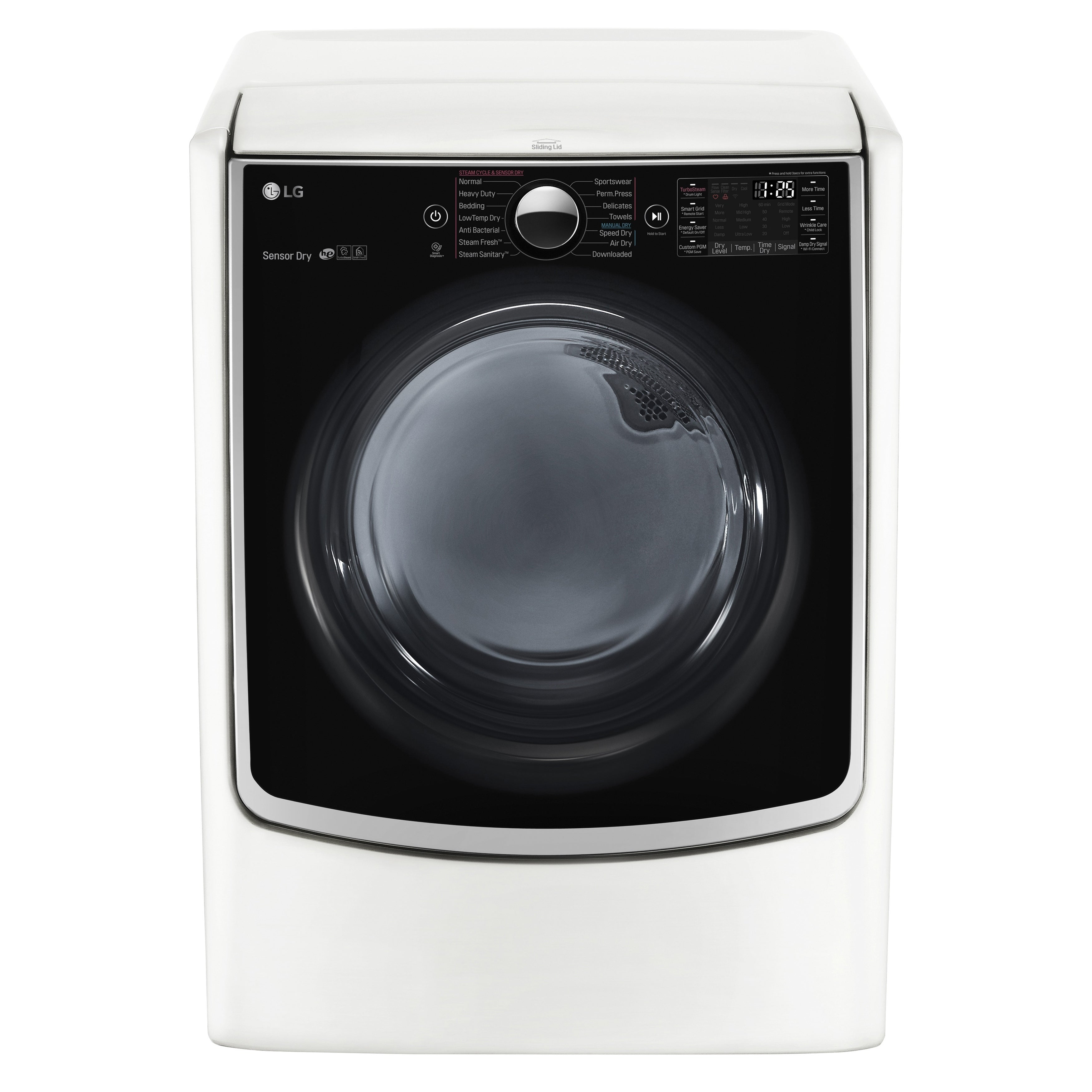 LG DLEX5000W 7.4 cu.ft. Ultra Large Capacity TurboSteam™ ...