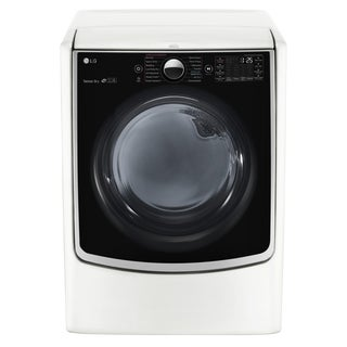 LG DLEX5000W 7.4 cu.ft. Ultra Large Capacity TurboSteam™ Electric Dryer w/ On-Door Control Panel in White