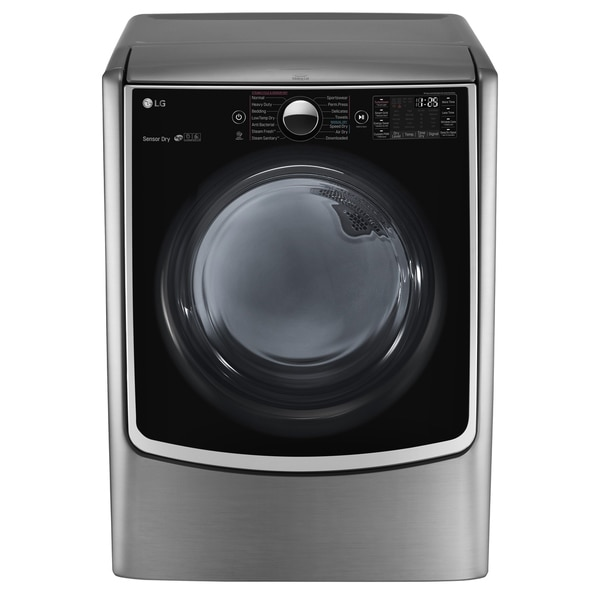 LG DLEX5000V 7.4 cu.ft. Ultra Large Capacity TurboSteam™ Electric Dryer w/ On-Door Control Panel in Graphite Steel