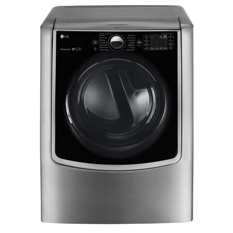 LG DLEX9000V 9.0 cu.ft. Mega Capacity TurboSteam Electric Dryer w/ On-Door Control Panel in Graphite Steel