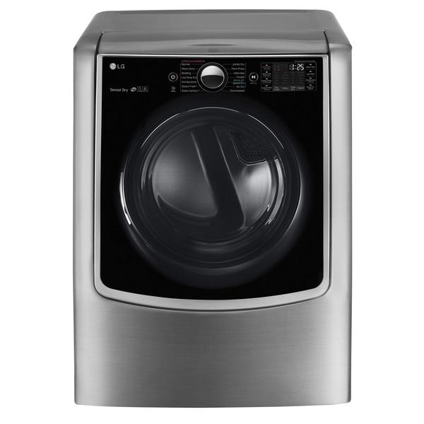 LG DLEX9000V 9.0 cu.ft. Mega Capacity TurboSteam™ Electric Dryer w/ On-Door Control Panel in Graphite Steel