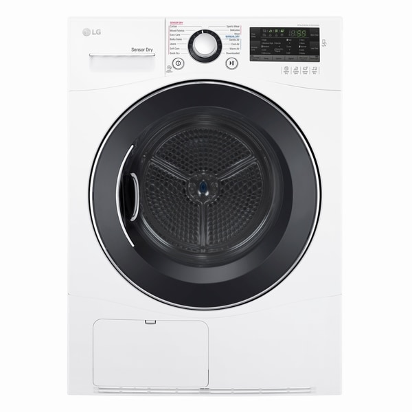LG DLEC888W 4.2 cu.ft. Compact Electric Condensing Front Load Dryer in White 28961075