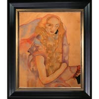 Egon Schiele 'Woman with Long Hair, 1911' Hand Painted Oil Reproduction