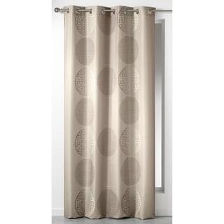 Evideco Printed Window Curtain Panel Grommet Design KOSMO