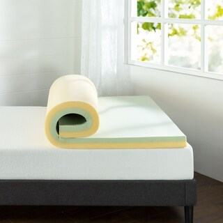 Priage 3 in. Green Tea Memory Foam Mattress Topper