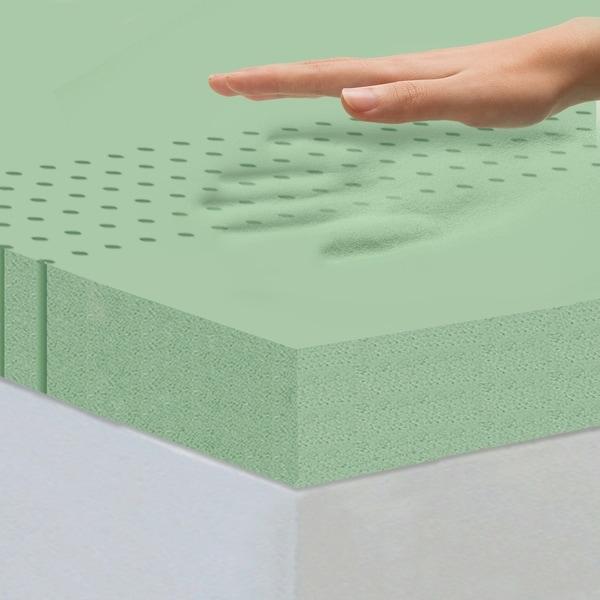 Zinus 4 Inch Green Tea Memory Foam Mattress Topper Twin Home Foam