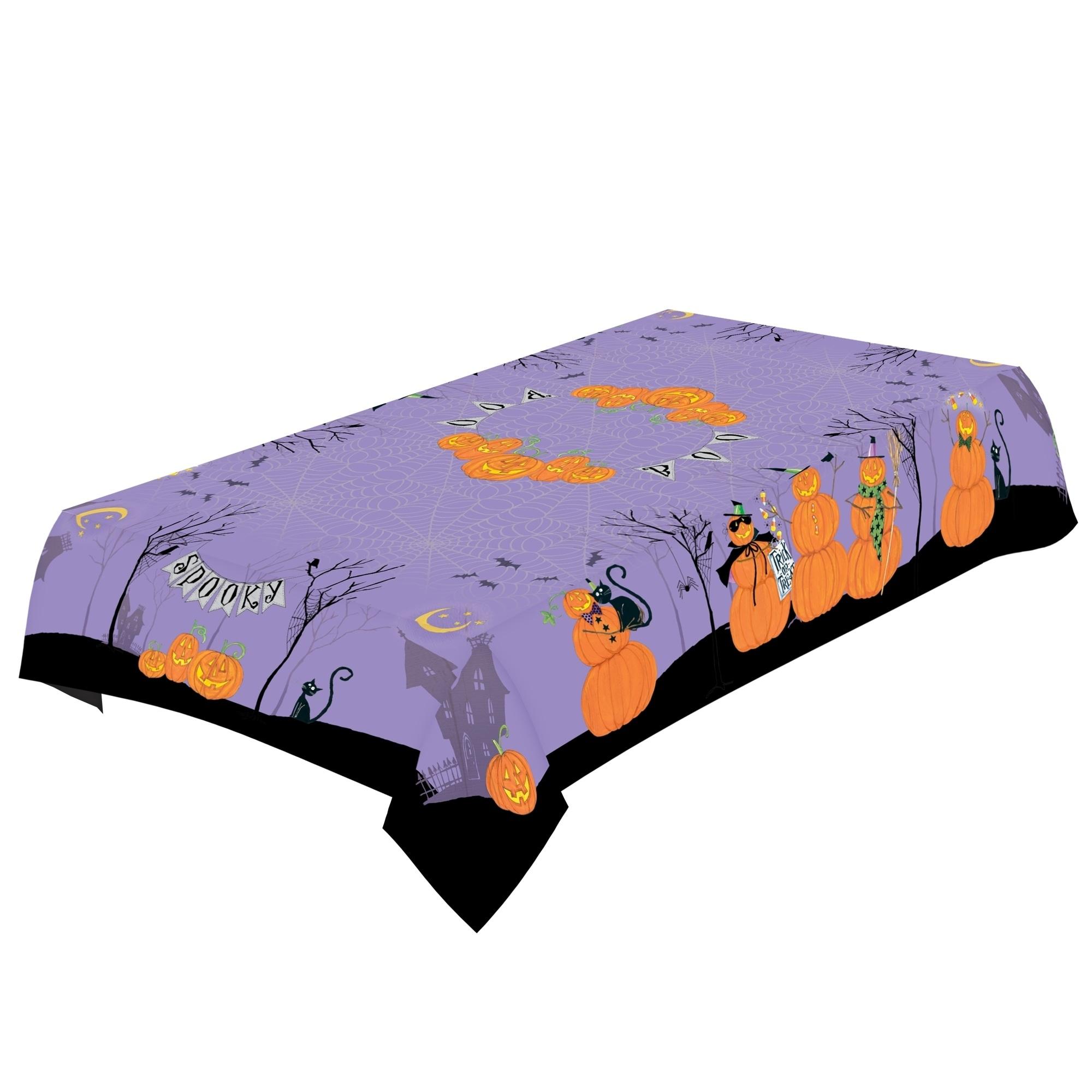 "Laural Home Jolly Jack O'Lanterns Tablecloth (60""x144""), ..."