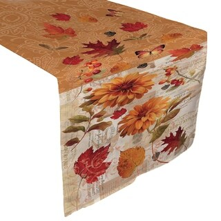 Laural Home Autumn Floral Table Runner