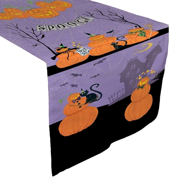 Laural Home Jolly Jack O'Lanterns Table Runner