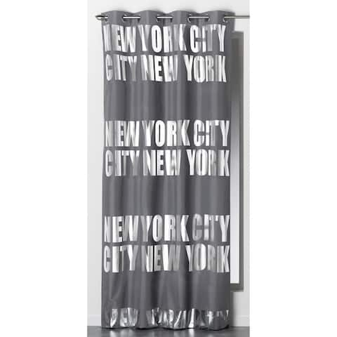 Evideco Blackout Window Curtain Panel Design NEW YORK CITY with Grommets