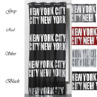 Evideco New York City Blackout Window Curtain Panel with Grommets