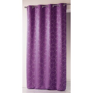 Evideco Printed Silver Blackout Silvermoon Curtain Panel Grommets (4 options available)
