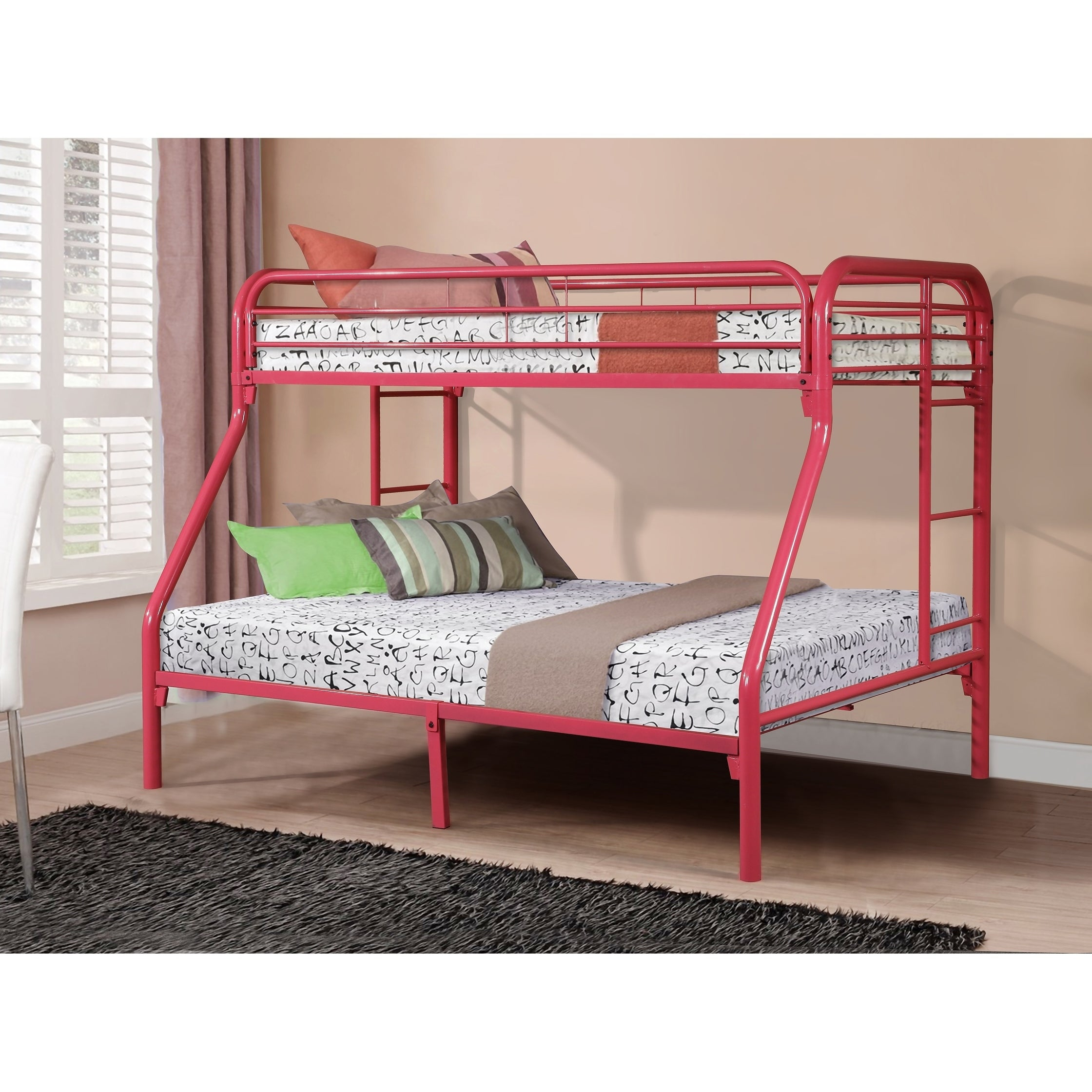 Shop Twin Over Full Metal Bunk Bed On Sale Overstock 17375264