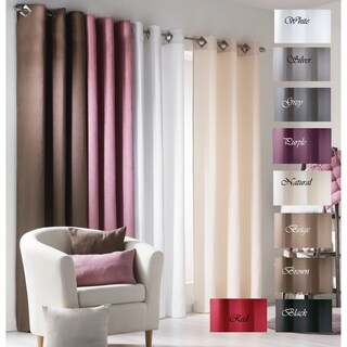 Evideco Solid Window Curtain Panel Grommet Suedine