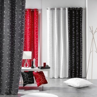 Evideco Red Blackout Window Curtain Panel
