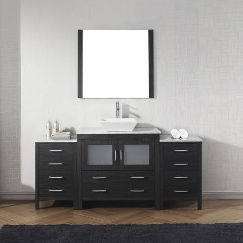 Dior 68-in White Marble Single Bathroom Vanity Set