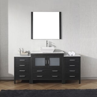 Virtu USA Dior 68-inch White Marble Single Bathroom Vanity Set with Faucet Options (More options available)