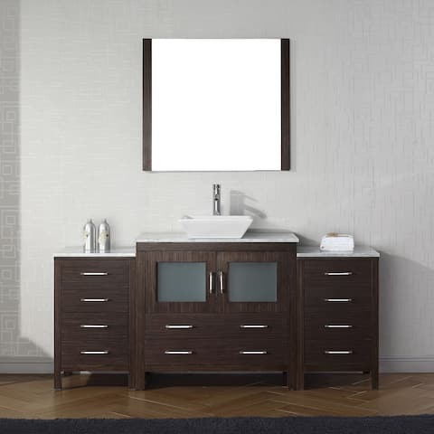 Dior 66-in White Marble Single Bathroom Vanity Set