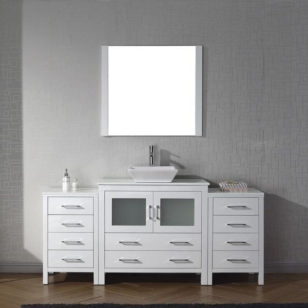 Shop Virtu Usa Dior 72 Inch White Stone Single Bathroom