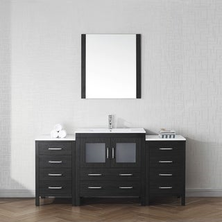 Virtu USA Dior 68-inch Ceramic Single Bathroom Vanity Set with Faucet Options