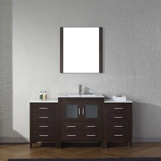Virtu USA Dior 66-inch Ceramic Single Bathroom Vanity Set with Faucet Options