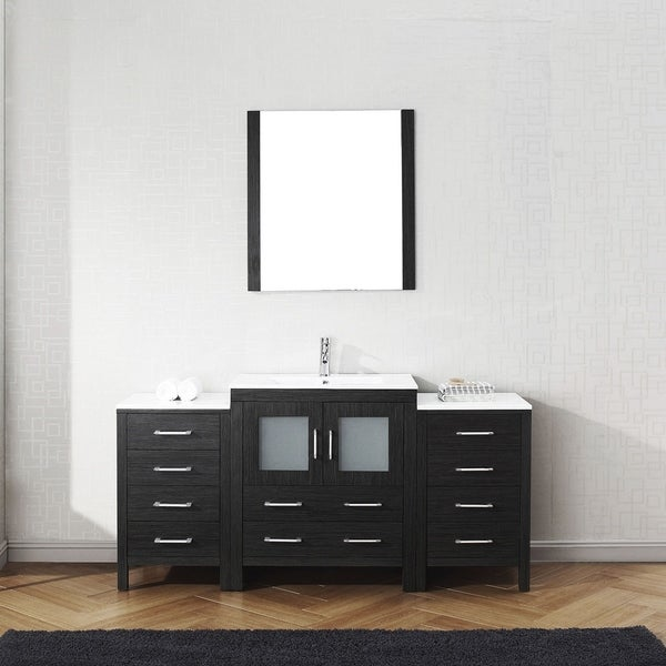 Captivating Virtu USA Dior 66 Inch Ceramic Single Bathroom Vanity Set With Faucet  Options   Free Shipping Today   Overstock.com   23615947