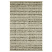 Under The Canopy Laguna Shodo Beige/Grey Striped Area Rug - 8' x 10'