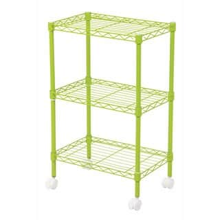IRIS 3-Tier Wire Shelf with Casters (Option: Pink)|https://ak1.ostkcdn.com/images/products/17375341/P23615990.jpg?impolicy=medium