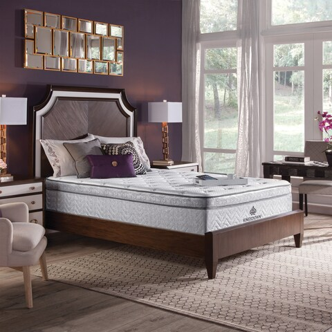 Kingsdown Mezzo Plush 14.5-inch Queen Luxury Euro Top Mattress Set