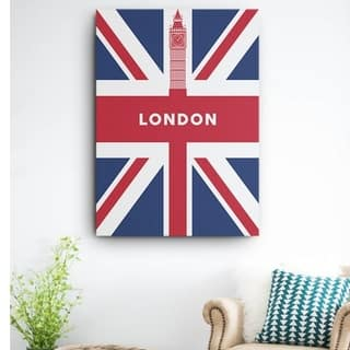 Mod Made 'See you again London' Canvas Wrapped Wall Art