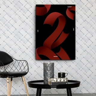 Mod Made 'Red Ribbons' Canvas Wrapped Wall Art