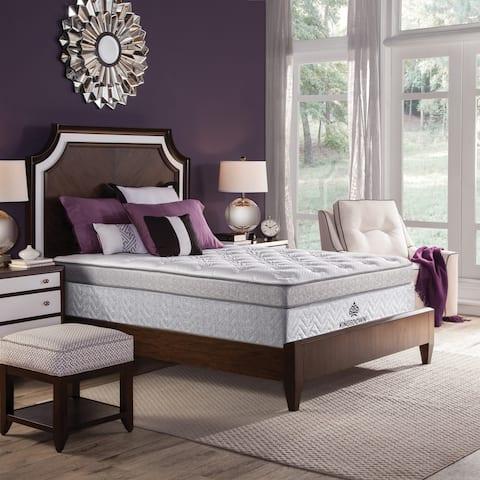 Kingsdown Mezzo Ultra Plush 16-inch Full XL Luxury Pillow Top Mattress Set