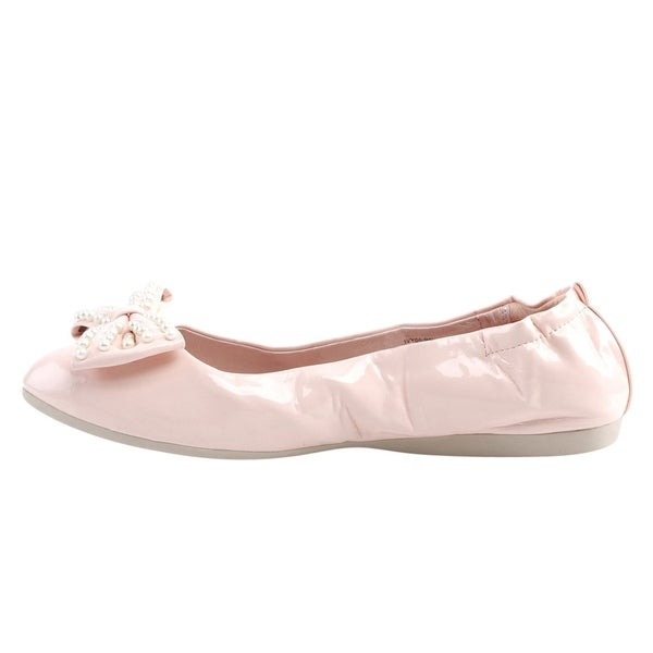Pin Up Couture Ivy 09 folding ballerina with bow and pearl