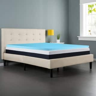 Spring Coil Gel Infused 2-Inch Foam Mattress Topper, Removable Cover https://ak1.ostkcdn.com/images/products/17378918/P23619029.jpg?impolicy=medium
