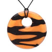 Bleek2sheek Handmade Jewelry Murano-inspired Glass Tiger Pendant Necklace