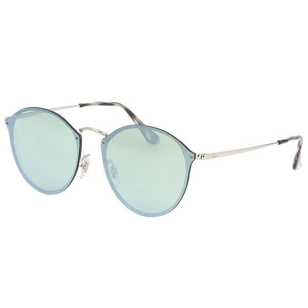 5d7935f6ff Ray-Ban Round RB3574N003 30 Silver Frame Silver Mirror Lens Sunglasses