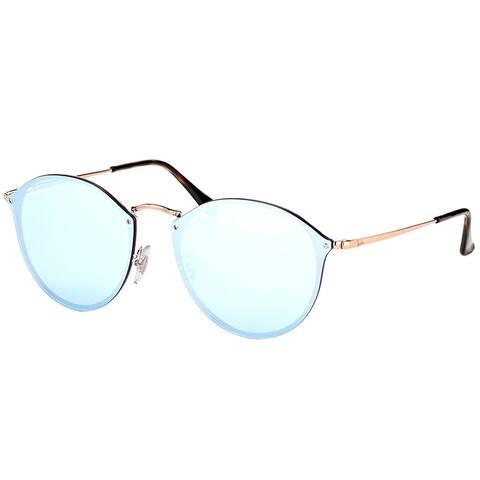 Ray-Ban Round RB3574N90351U Copper Frame Silver Mirror Lens Sunglasses