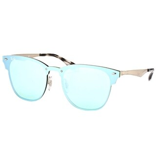 Ray-Ban Clubmaster RB3576N042/30 Silver Frame Silver Mirror Sunglasses