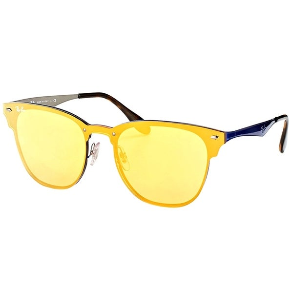 30e546c75e0 Shop Ray-Ban Clubmaster RB 3576N 90377J Blue Frame Gold Mirror Sunglasses -  Free Shipping Today - Overstock - 17389412