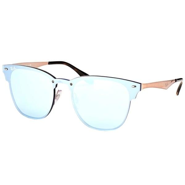 3cad9ac153079 Ray-Ban Clubmaster RB3576N90391U Copper Frame Silver Mirror Sunglasses