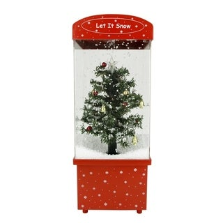 "16.25"" Lighted Musical ""Let it Snow"" Christmas Tree Snow Globe Glitterdome"